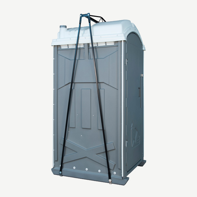 polyportables lift kit for portable toilet side view